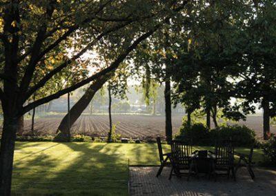 Grote tuin bij vakantiehuis in Brabant