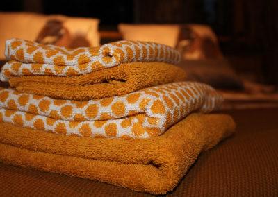 Elke dag schone handdoeken bij overnachting