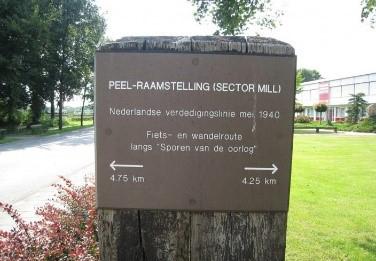 Wandelroute en fietsroute Mill Peel-raamstelling